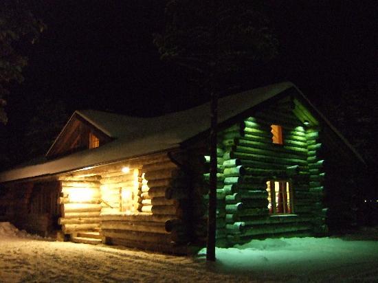 Cabin at night 2 foto di levi log cabins levi tripadvisor for Stili di log cabin