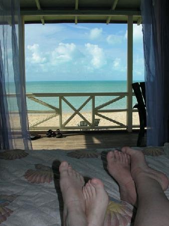 Chez Pierre Bahamas: from our bed