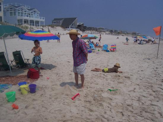 Long Beach Island: My father inspects the site