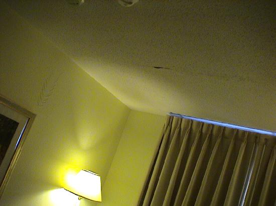 Residence Inn Boston Tewksbury/Andover: bad water damage on ceiling and walls