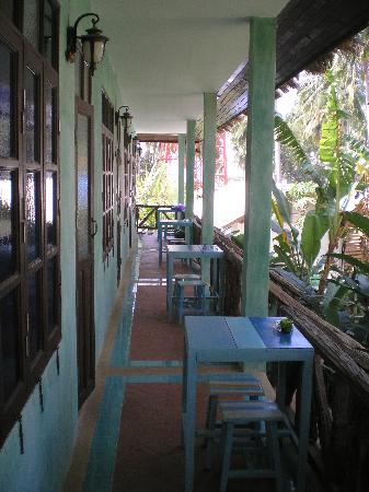 Kachapura: deck in front of room