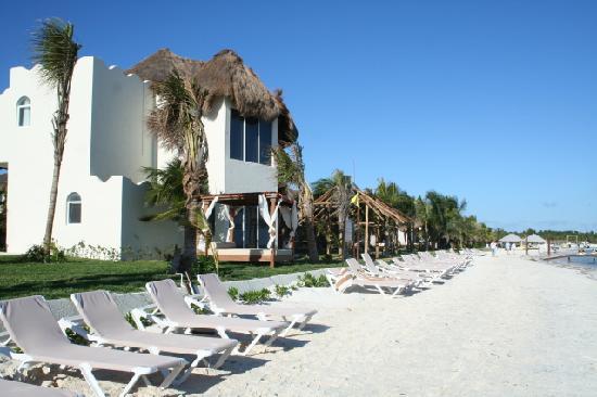 El Dorado Maroma, a Beachfront Resort, by Karisma : From the beach, looking left towards the Marina