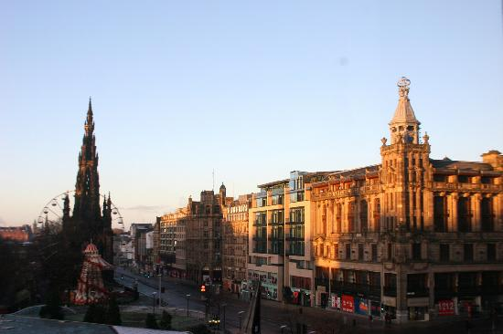 The Balmoral Hotel: View down Prince's Street from our window