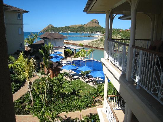 The Landings St. Lucia: View of Rodney Bay from Veranda