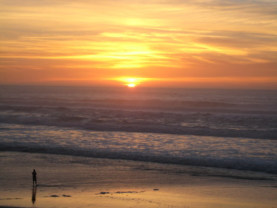 Sunset in January, San Gregorio Beach in Northern CA