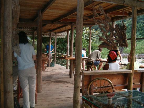 Jungle River Lodge: Part of the common area