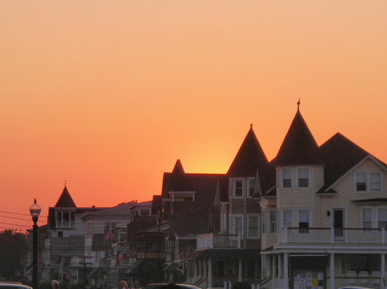 The sun goes down at Ocean Grove,NJ