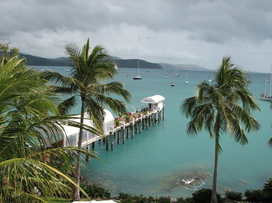 Airlie Beach, Austrália: View of the jetty from the Coral Sea Resort