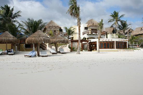 Ana y Jose Charming Hotel & Spa: view of spa in foreground, upper suites Encanatada and El Deseo