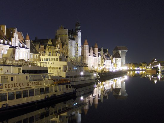 Dantzig, Pologne : Gdansk at night