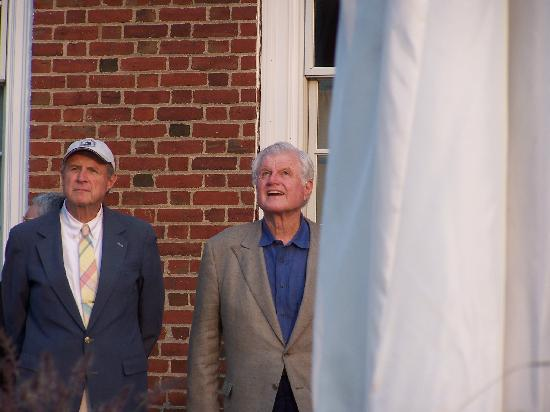 SeaCoast Inn: Ted Kennedy watching the raising of the flag.