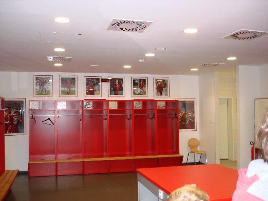 Allianz Arena: FC Bayern's Dressing Room