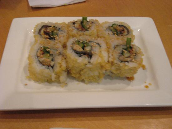 Sushi House: Crazy Roll (tuna, salmon, yellow tail, and avocado)