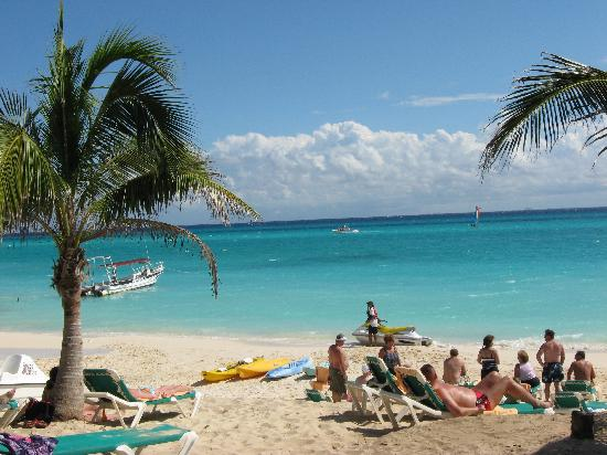 Hotel Riu Playacar Beach On Calm Day