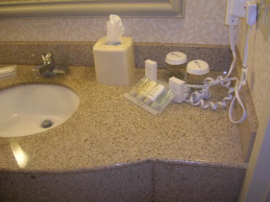 Hilton Garden Inn Ft. Lauderdale Airport-Cruise Port: Sink w/ complimentary items