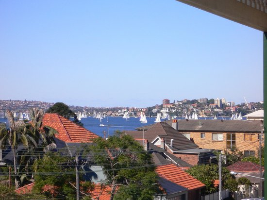 Cremorne Point, Australia: view from balcony