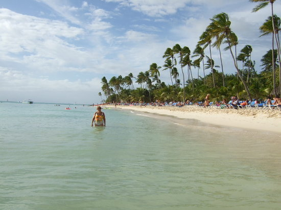 La Romana, Republik Dominika: right beach view