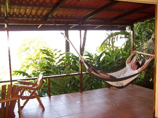 La Paloma Lodge: porch of our rancho