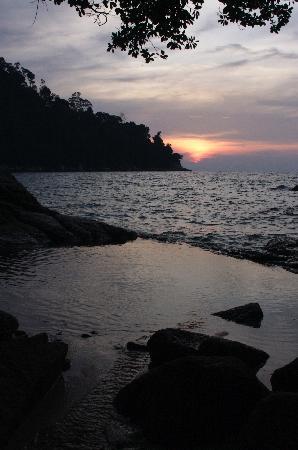sunset, emerald bay
