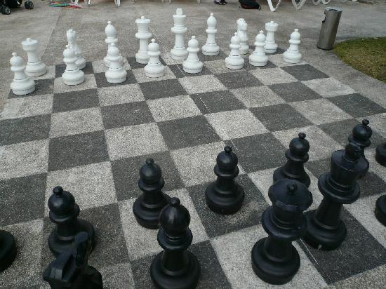 The Fun Chess Set Next To The Pool Picture Of Hotel Roc