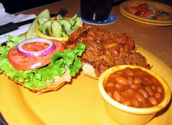 Marlborough, MA: pulled pork sandwich