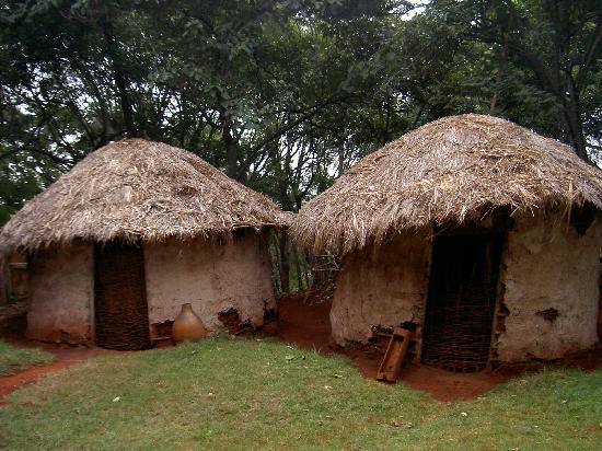 Aberdare Nationalpark, Kenya: Poblado Kikuyu