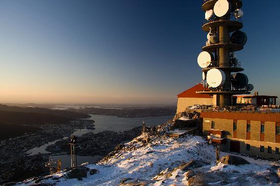 The TV tower at Mount Ulriken - Bergen