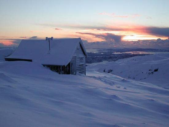 Mount Ulriken at winter time - Bergen
