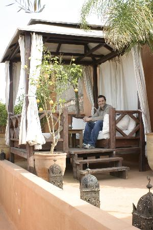 Riad Hayati: Tea on the roof terrace