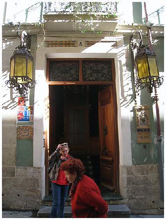 Pension Les Monges: Entrance