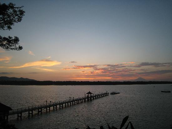 The Oberoi, Lombok: Jetty at sunset