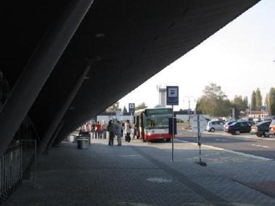 Bus line 76 in front of airport Brno-Tuřany.
