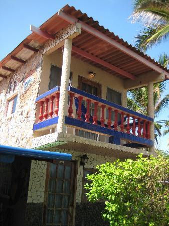 Isla Grande, Панама: La habitación en el segundo piso con el pequeño balcón