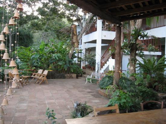 La Mariposa Spanish School and Eco Hotel: Hotel Courtyard