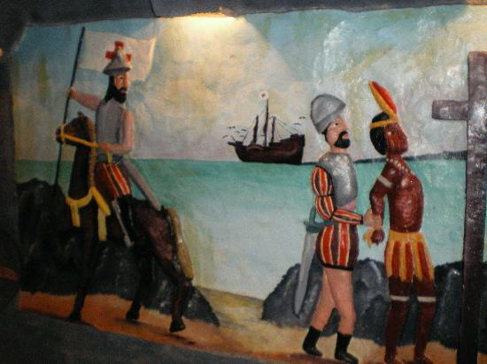 History: Wall mural of the british capturing the natives - Picture ...