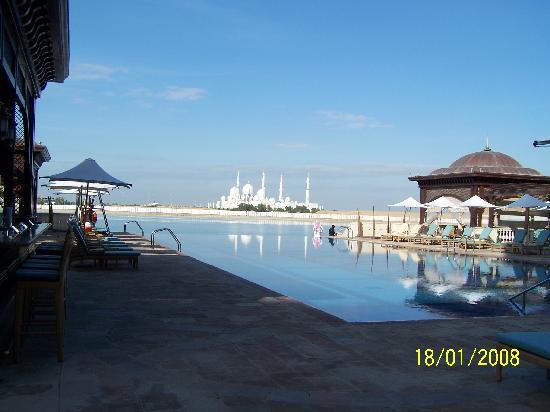 Shangri-La Hotel, Qaryat Al Beri, Abu Dhabi: view from one of the hotel pools