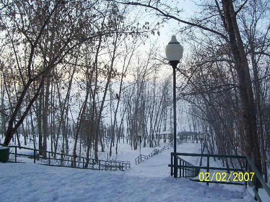 Tolyatti, Russie : view from hotel entry to Volga
