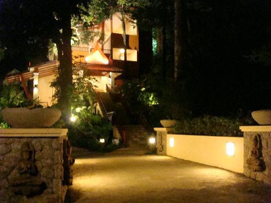 Aquamarine Resort & Villa: our building at night