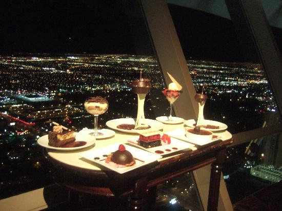 Top Of The World Restaurant At Stratosphere Dessert Tray