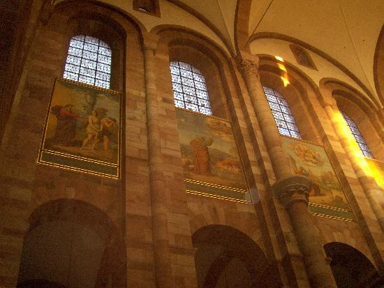 Window Paintings inside Cathedral of Speyer