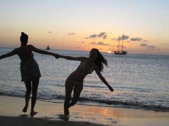The Landings St. Lucia: dancing on the beach at sundown