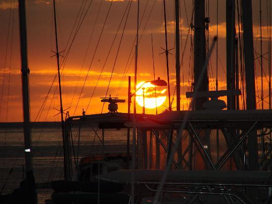 Sunset View from Boqueron Yacht Club Restaurant