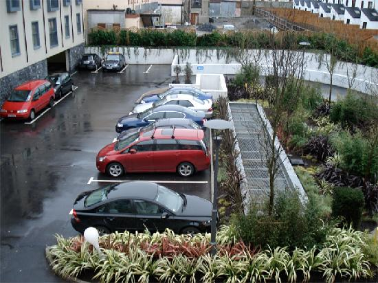 The Twelve Hotel : The Twelve car park and view from suite window