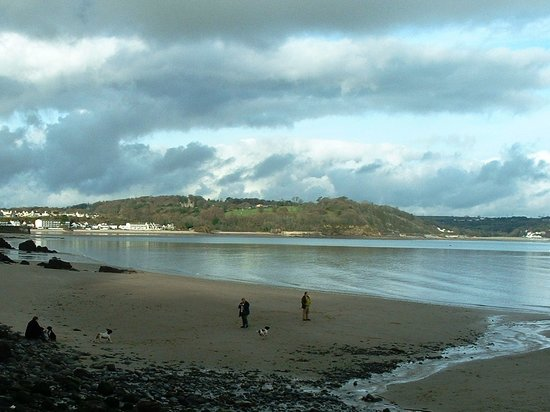 Saundersfoot, UK : The beach at the hotel
