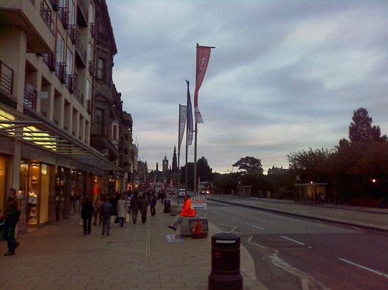 Princes Street, greatest business area of the city