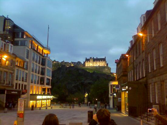 Still Princes Street but a good view of the Castle