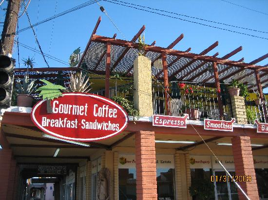 La Hacienda de la Langosta Roja: 2nd Story Restaurant/Coffee Shop Next To Hotel, Good Breakfast