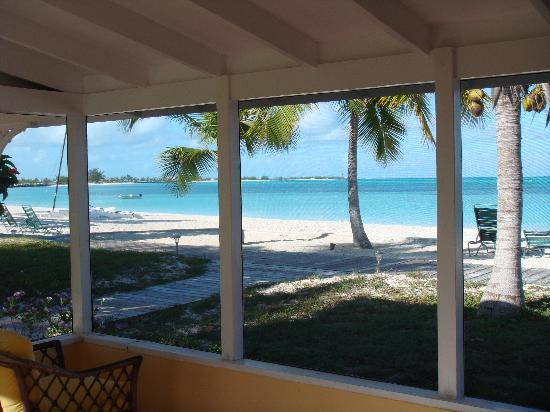 Cape Santa Maria Beach Resort & Villas: View from the porch (left)