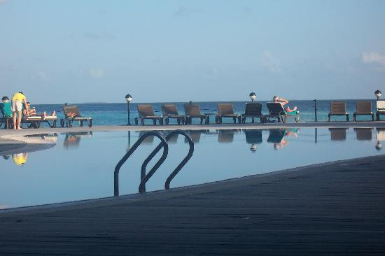 Kuredu Island Resort & Spa: the pool, where u can sit next to and watch dolphins