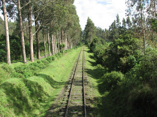 Ecuador: Andean view from the railway